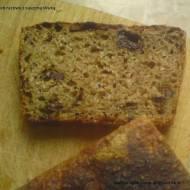 Chleb razowy z suszoną śliwką ( na zakwasie)