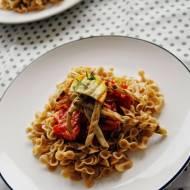 Szybki Obiad: Makaron z grillowanymi warzywami