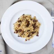 Risotto z kurkami i  rozmarynem. / Risotto with chanterelles and rosemary.