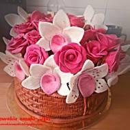 Tort kosz kwiatów