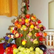 Koreczki na melonie