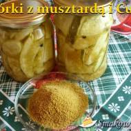 Ogórki w zalewie musztardowej i z Curry