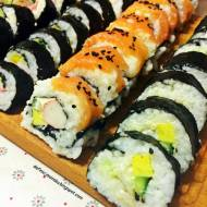 Sushi w pięciu  smakach.