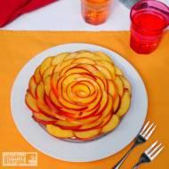 Tarta z kremem budyniowym i nektarynkami (bez glutenu, mleka i jajek)