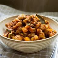 Danie jednogarnkowe z soczewicą ( wegetariańskie ). / One pot with lentils ( vege ).