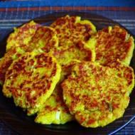 Kotlety / placki z fasolki szparagowej i jajka (porcja - 310 kcal)