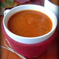 Jesienna zupa z pieczonych warzyw