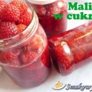 Aromatyczne maliny z cukrem na zimę (mrożone)