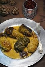 500 przepis na blogu: gołąbki z mięsem i razowym chlebem w sosie grzybowym