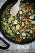 Bób z kaszą – szybki obiad