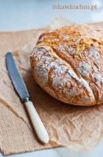 Chleb z chrupiącą skórką (bez wyrabiania ciasta)