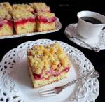 Ciasto Drożdżowe z Malinami i Kruszonką