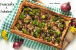 Ciasto  francuskie z brokułami i serem pleśniowym blu