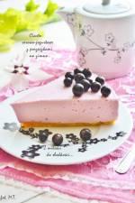 Ciasto serowo-jogurtowe z porzeczkami na zimno