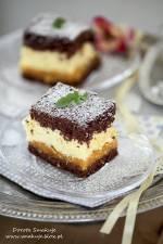 Ciasto z kremem ajerkoniak i galaretką mandarynkową