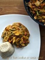 Curry z kurczaka w sosie saté