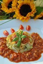 Dietetyczne spaghetti z włoszczyzną