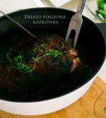 Długo pieczona karkówka w marynacie z wędzonej papryki z sosem majonezowo-paprykowym