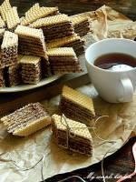 Domowe wafelki kakaowe