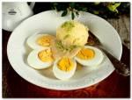 Jaja w sosie miodowo - musztardowym