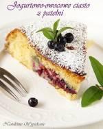 Jogurtowo-owocowe ciasto z patelni
