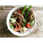 Karkówka z warzywami w pięciu smakach