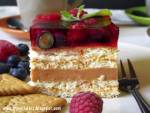 Owocowa chmurka – ciasto bez pieczenia