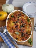 Parmigiana z patisonów - włoska zapiekanka serowa