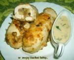 pikantne roladki z piersi z pieczarkami i serem...