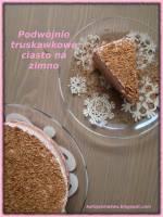 Podwójnie truskawkowe ciasto na zimno