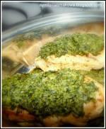 Roladki z piersi kurczaka ze szpinakiem.