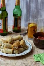 Sigara Böreği - cygara z ciasta filo nadziewane serem feta i ziołami