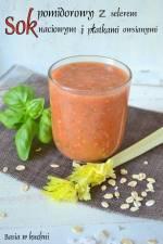 Sok pomidorowy z selerem naciowym i płatkami owsianymi