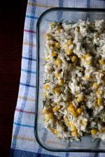 Surówka z kalafiora z kukurydzą i koperkiem