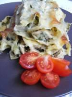 Szpinakowa kolacja :) Cannelloni ze szpinakiem i kurczakiem.
