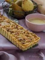 Tarta serowo-dyniowa z gruszkami i orzechami