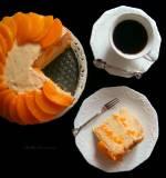 Tort Brzoskwiniowy z Masą Budyniowo-Maślaną oraz Kremem Budyniowo-Śmietanowym