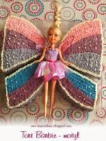 """Tort – pomysł na dekorację VII """"Barbie - motyl"""""""