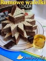 Wafelki  kakaowo – rumowe