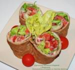 Wegetariańska tortilla z pełnoziarnistych naleśników - Styczniowe Wyzwanie Blogerek i Blogerów