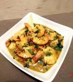 Zielone tajskie curry z krewetkami