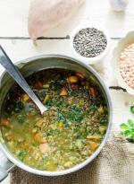 Zupa codzienna z dwóch rodzajów soczewicy