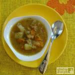 Zupa jarzynowa z kapustą, pomidorami i papryką