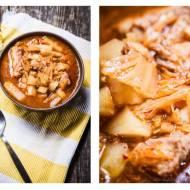 Zupa ostro-kwaśna warzywna z żeberkiem i kimchi