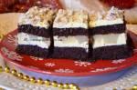 Gruszkowiec - kakaowe ciasto z masą gruszkową i michałkami