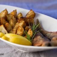 Ryba i pieczone ziemniaki
