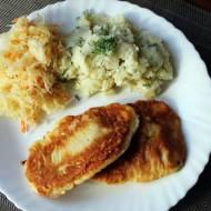 Ryba w cieście z puree z ziemniaków
