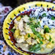 Curry z dynią, fasolką i kurczakiem
