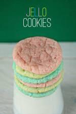 jello cookies, kolorowe ciastka z galaretką - bez barwników!