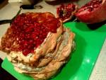 Torcik bezowy z jabłkami i kremem śmietankowym